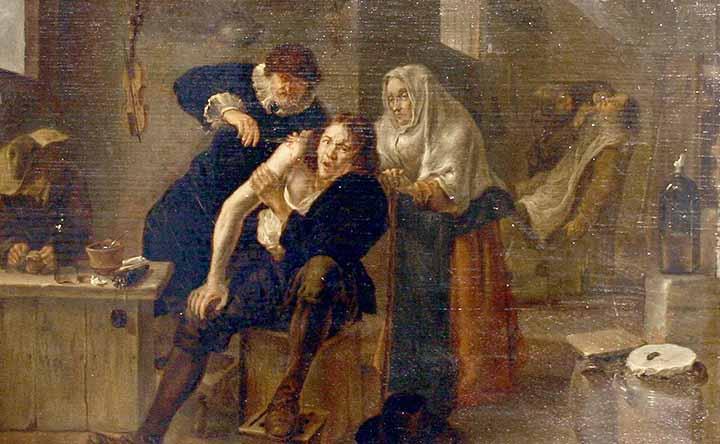 Barbieri-chirurghi nell'arte del Seicento