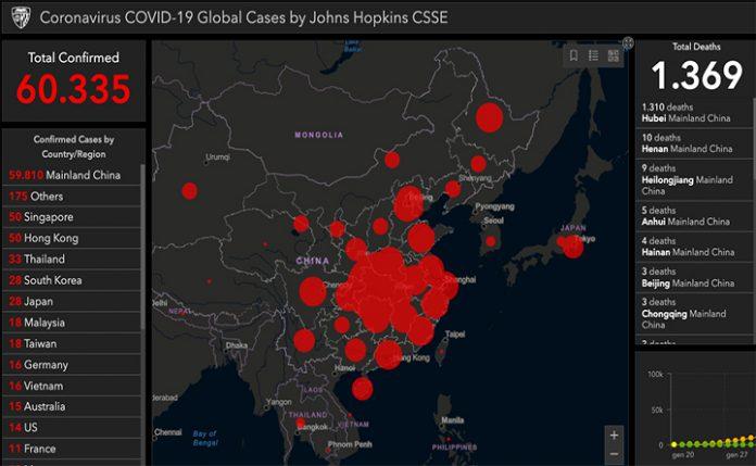 Mappa contagi corona virus
